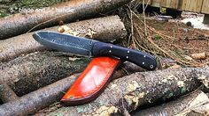 Kephart knife custom antiqued blade by BillaBongBlades on Etsy, $165.00