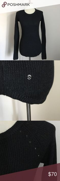 Lululemon Cabin Yogi sweater, size 4 Made with a blend of cashmere and rayon from bamboo. No condition issues of any kind. Mint condition.  Key features Boolux™ fabric, a blend of rayon from bamboo with TENCEL® and cashmere thumbholes help keep sleeves down and chills out slim fit, cover-your-bum length lululemon athletica Sweaters
