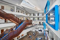 Best Higher Education/Research - University of Kansas Capitol Federal Hall Interior Design Magazine, Schools In America, University Of Kansas, Kansas Usa, Education Architecture, Design Strategy, Business School, Atrium, Higher Education