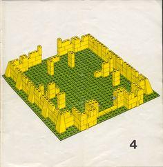 Old LEGO® Instructions | letsbuilditagain.com Lego Craft, Cardboard Crafts, Lego Castle Instructions, Legos, Lego Structures, Classic Lego, Lego Juniors, Lego Challenge, Lego Activities