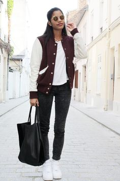 Babes in Velvet: Outfit of the Week : Varsity Jacket