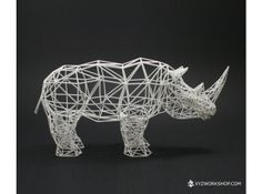 Digital Safari- Rhino (Small) 3d printed Accessories Sculptures For the WriNoShores