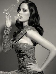 Eva Green aka Vesper. Smoking literally and figuratively.