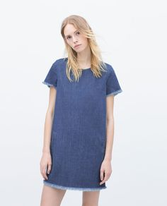 DRESS WITH FRAYED HEM - Dresses - Woman - COLLECTION AW15   ZARA United States