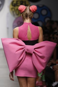 I love the OVERSIZED minnie bow!!! Gerlan Jeans Spring 2013: SS13 NEW YORK FASHION WEEK