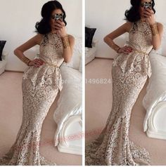 Cheap dress rayon, Buy Quality dress skirt directly from China dress finger Suppliers:   Lace Mermaid Evening Dresses 2015 Scoop Sweep Train Special Occasion Dresses Custom Gatsby Dress Free Shipping CH
