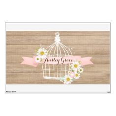 """#country - #Country Chic Birdcage Wall Decal- 30"""" x 45"""" Wall Sticker"""