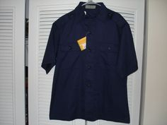 Tactical Military Shirt SS Police Security Officer Navy Blue Uniform New Large #Rothco