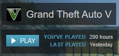 Just hit 200 hours on the PC version. #GrandTheftAutoV #GTAV #GTA5 #GrandTheftAuto #GTA #GTAOnline #GrandTheftAuto5 #PS4 #games
