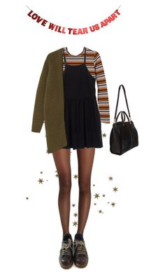 """Untitled #100"" by borninthe1990s ❤ liked on Polyvore featuring Wolford, Monki, Miu Miu, Maiyet and Dr. Martens"