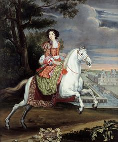 Catherine de Neufville, Comtesse d'Armagnacq by Joseph Parrocel (Skoklosters slott - Skoklosters Sweden) Drawings, Oil Painting, Equestrian Art, Pictures, Art, Artist, Horse Art, Artwork, Painting