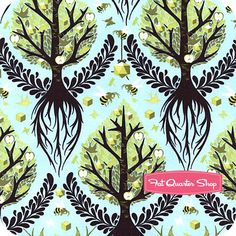 The Birds and the Bees Pool Tree of Life  - Tula Pink fabric -- I just love this pattern!