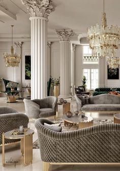 classic home decor VWArtclub - Classic Interior Luxury Home Decor, Luxury Interior Design, Neoclassical Interior Design, Studio Interior, Luxury Furniture, Furniture Design, Rustic Furniture, Furniture Ideas, Modern Furniture