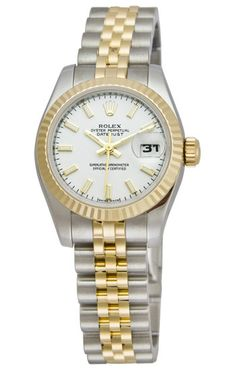 Rolex two-tone lady datejust with mother of pearl face