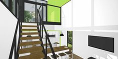 Foxworth Architecture - Container House 2 - Louisville, KY (Stair)