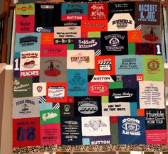 T-Shirt+Quilt+Ideas | ... . Some allowed me to get creative with the quilting designs