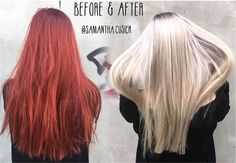 TRANSFORMATION: Gorgeous Red To Gorgeous Blonde - Career - Modern Salon