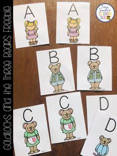 Fern's Freebie Friday - Goldilocks and the Three Bears for Kindergarten Week Small Group, Seatwork & Centers Freebie! Reading Centers, Math Centers, Classroom Charts, Classroom Ideas, Student Binder Covers, Teaching Procedures, Goldilocks And The Three Bears, Alphabet Cards, Simple Math