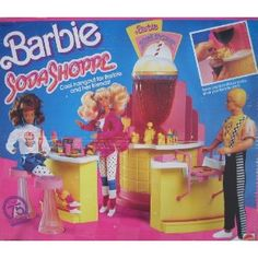 Barbie Soda Shoppe 1988, I had so much fun with this toy.