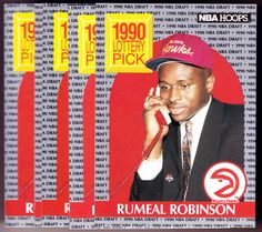 ATLANTA HAWKS LOT OF 5 1990-91 HOOPS RUMEAL ROBINSON ROOKIES NMMT FREE SHIP #AtlantaHawks