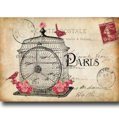 Postcard Birdcage