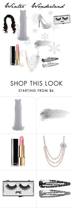 """""""Prom"""" by ecstatic-affinity ❤ liked on Polyvore featuring Alexander McQueen, NARS Cosmetics, Chanel, Pop Beauty, Monki, Prom, Winter, Wonderland and winterwonderland"""