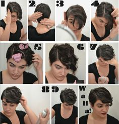 Wish I'd have seen this when I first cut my pixie! Now it's too long! But... If you're just getting a pixie this seems pretty simple