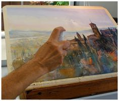 Yesterday I saw it on Facebook. It`s so fascinating! I believe any watercolorist would enjoy to see the process, materials, colors, brusher,...