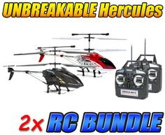 Hercules and Hercules X Unbreakable 3.5CH RC Helicopter Bundle
