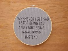 How I Met Your Mother embroidery hoop wall art. via Etsy.
