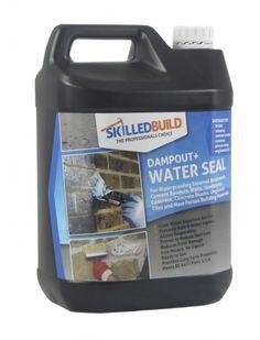 SkilledBuild DampOut+ WaterSeal - for waterproofing external brickwork, cement renders, walls, sandstone, concrete, concrete blocks, unglazed tiles and most porous building materials.