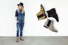Maruti Passoa, chelsea boot, cheetah dots black.