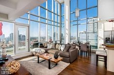 most spacious lofts apartments Motorized Blinds, Gas Bbq, Walled City, Rooftop Terrace, Floor To Ceiling Windows, Window Wall, Lofts, Toronto, Apartments