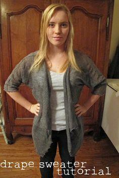 Sew Country Chick: fashion sewing and DIY: Drape Front Sweater Tutorial