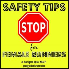 Safety tips for female runners. Running safely, being more aware after being grabbed while running.