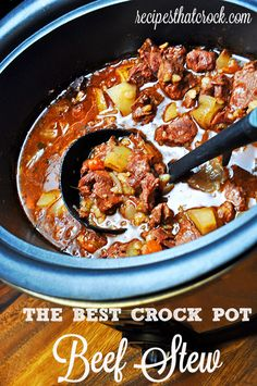 The BEST Beef Stew you will ever have and I never made ;) #CrockPot #SlowCooker