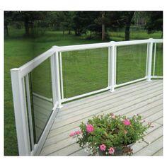 RONA Panneau de verre trempé pour rampe, 48 po Porche, Outdoor Structures, Windows, Outdoor Decor, Spas, Decks, Home Decor, Courtyards, Glass Handrail
