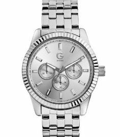G by GUESS Women's Silver-Tone Classic Watch, GOLD
