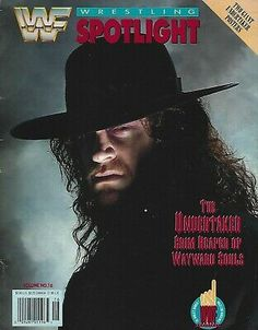 Sponsored - The Undertaker 1992 WWF Wrestling Spotlight Magazine Volume 16 WWE Special Issue Undertaker Wwf, Wwe Hulk Hogan, Baseball First, Andre The Giant, St Louis Cardinals, New York Mets, Wrestling, Magazine, Wwe Superstars