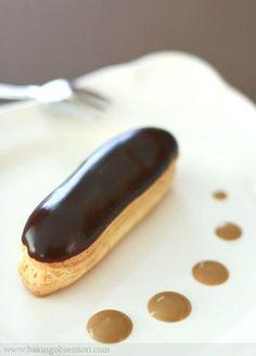 Mocha Éclairs with Espresso Cream Anglaise Sauce