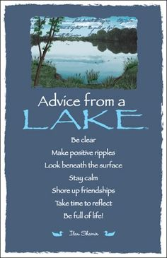 ☆ Advice From a Lake ~:By Ilan Shamir ☆