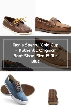 Men's Sperry 'Gold Cup - Authentic Original' Boat Shoe, Size 9.5 W - Blue Sperrys Men, Gold Cup, Boat Shoes, The Originals, Blue, Loafers, Sperry Boat Shoes