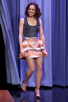 Daisy Ridley in Dior Resort 2016 - The Tonight Show Starring Jimmy Fallon - December 3, 2015