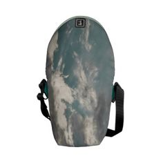 Sky and clouds messenger bag. Designed by ZoneVanessagf $48.41