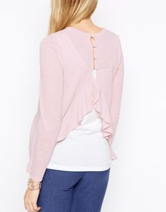 Image 2 of ASOS Maternity Jumper With Frill Open Back