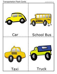 Transportation Flashcards Meglio preparare flashcards su grappoli di parole