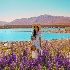Nothing like a floral sundress and straw bag on a sunny day by this beautiful lake ☺️ dress by and bag by… Floral Sundress, Sunny Days, New Zealand, Sunnies, Straw Bag, Australia, Photo And Video, Couple Photos, Bags