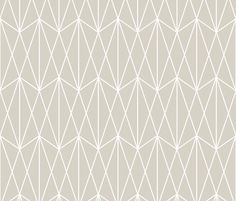 Diamond Grid - Beige wallpaper by kimsa on Spoonflower - custom fabric