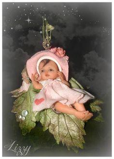 Good Night sister and all,sweet dreams,God bless,xxx❤❤❤✨✨✨🌙 Baby Fairy, Love Fairy, Baby Mold, Elves And Fairies, Fairy Figurines, Clay Baby, Polymer Clay Dolls, Beautiful Fairies, Tiny Dolls