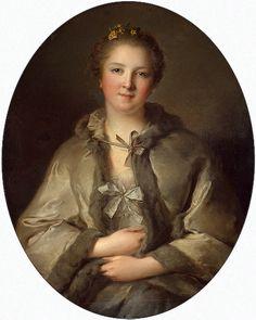 Jean-Marc Nattier, Portrait d'une dame en gris